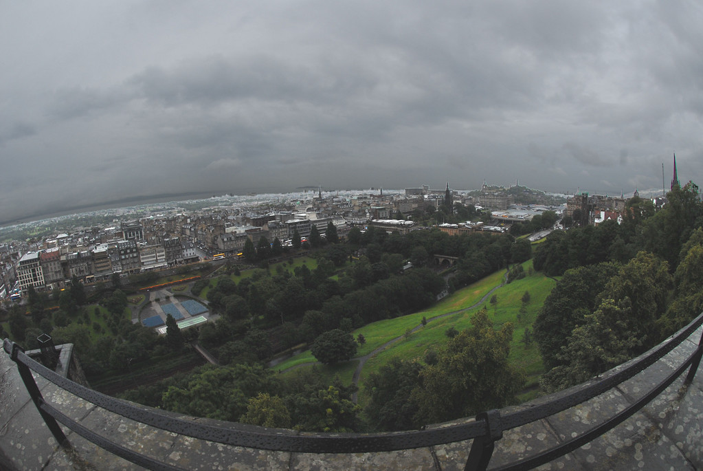 Fisheye view from Edinburgh Castle