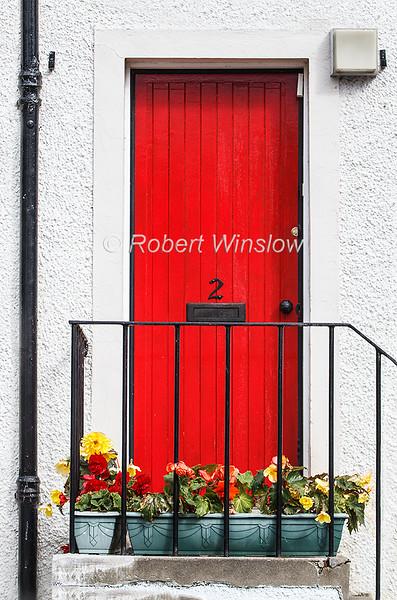 Red Door, Dunkeld, Scotland, United Kingdom, Europe