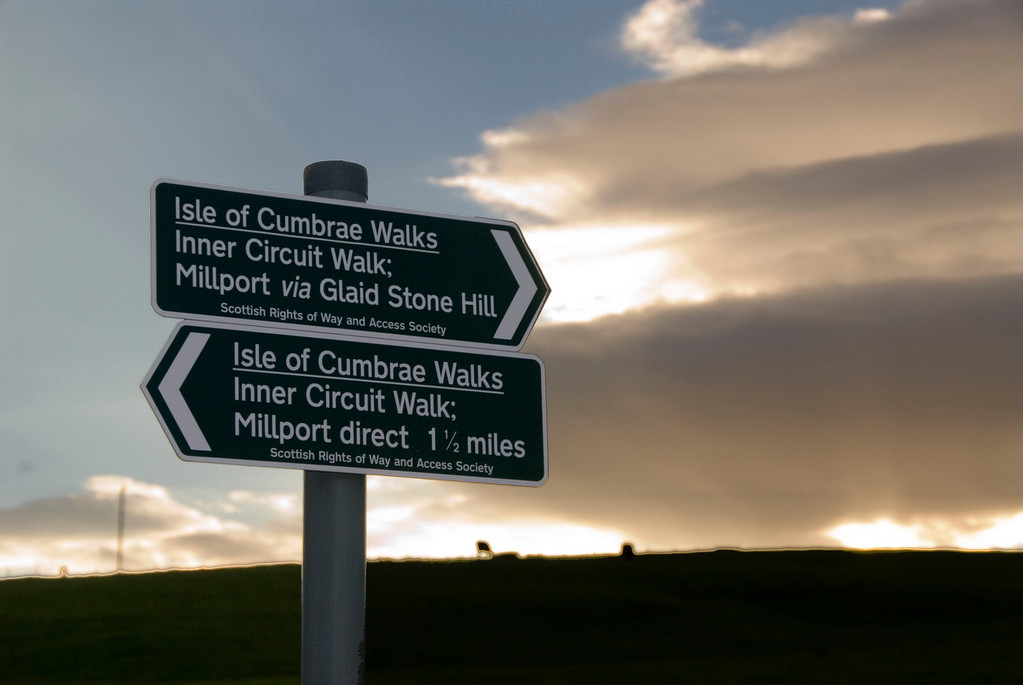 Isle of Cumbrae signs, Scotland