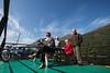 No Model Release, Passengers, Ros Crana Barge, Loch Lochy, Caledonian Canal; Great Glen Way; Scottish Highlands, Scotland; United Kingdom, Europe