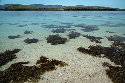 Brilliant turquoise water at Claigan coral beach on the Isle of Skye, Scotland.