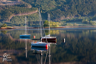 Three Boats on Loch Levan