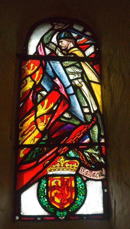 Stained glass window, St. Margaret's Chapel, Edinburgh Castle