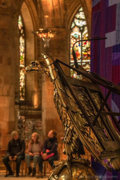 Eagle lectern in St. Giles' Cathedral, Edinburgh.