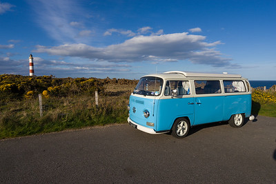 VW Bus at Tarbat Ness Lighthouse