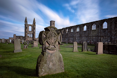 Ruins of St. Andrews Cathedral, long-exposure.