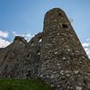 Kilchurn castle wide angle