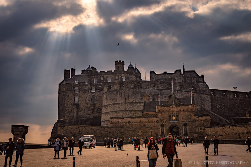 An afternoon sun-break at Edinburgh Castle.