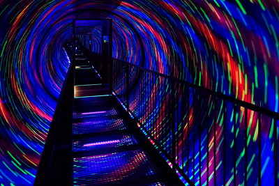 The rotating tunnel pathway at Camera Obscura - guaranteed to trigger severe Vertigo