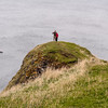 The Berwickshire Coastline of high cliffs over deep clear waterand the brave Dr.Cooksey and Laura.
