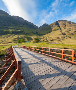 Glencoe Bridge and Mountains