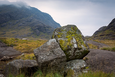The rugged area around the shores of Loch Coruisk, Isle of Skye, Scotland.