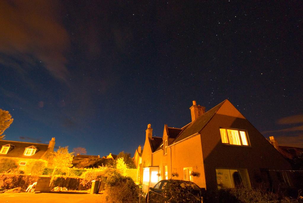 Night sky, Auldearn