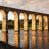 Royal Border Bridge spans the River Tweed between Berwick-upon-Tweed and Tweedmouth in Northumberland, England.