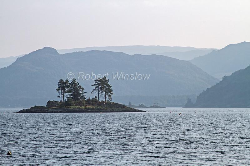 Island, Village of Plockton, Loch Carron, Sea Loch, Scottish Highlands, Scotland; United Kingdom, Europe