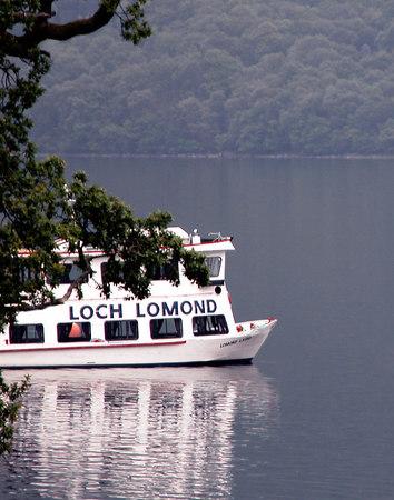 Tour boat on Loch Lomond