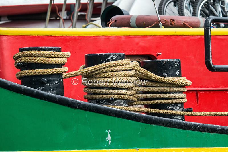 Ros Crana Barge, Caledonian Canal; Great Glen Way; Scottish Highlands, Scotland; United Kingdom, Europe