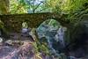 Bridge, River Braan, The Hermitage pleasure ground, National Trust of Scotland, Craigvinean Forest, Scotland, United Kingdom