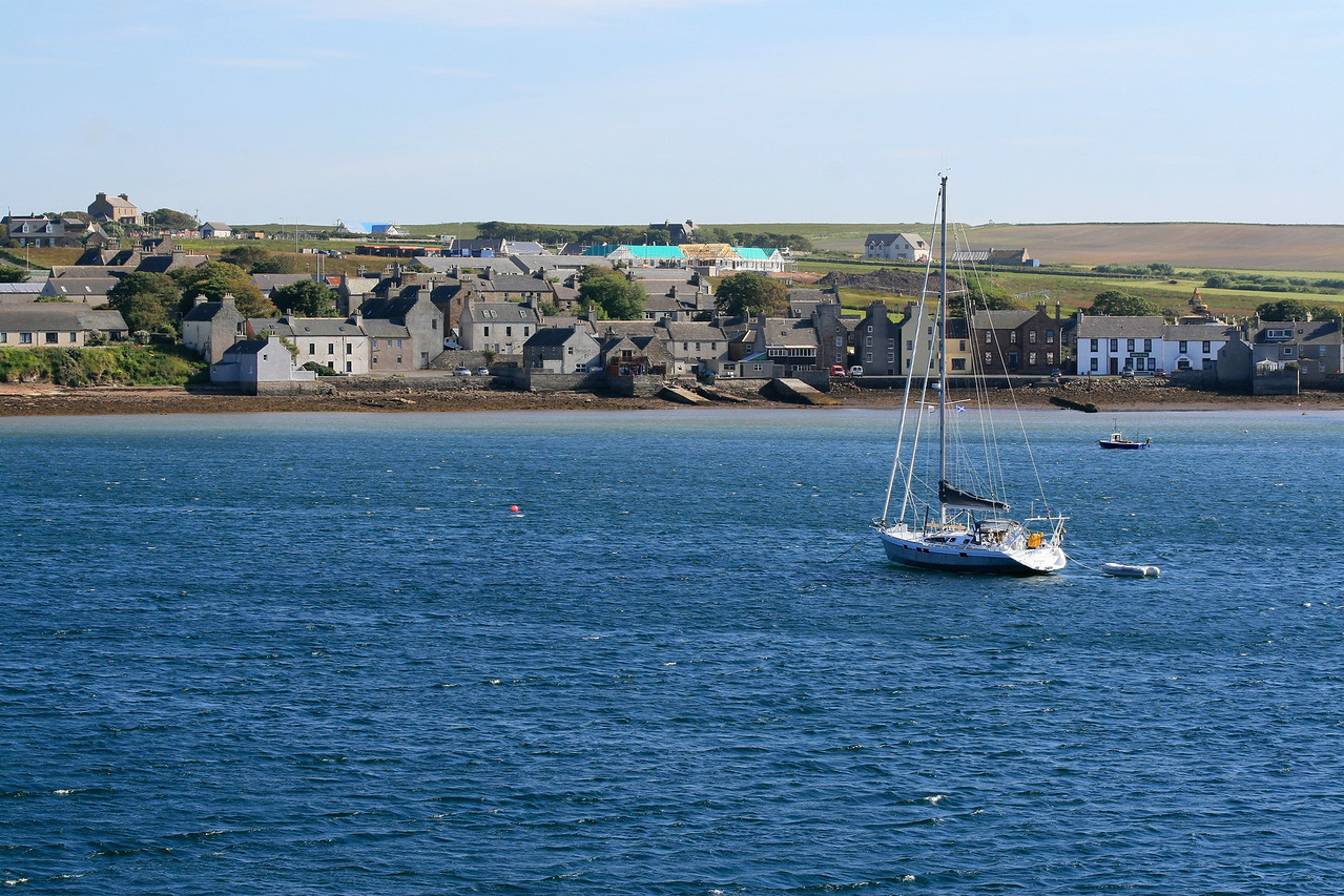Arriving in Stromness, landing port of the largest Orkney Islands.