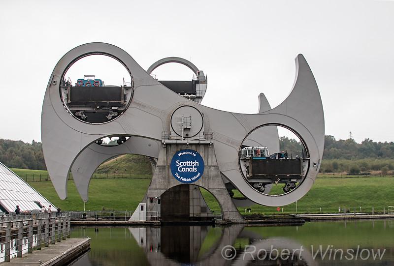 Falkirk Wheel, Rotating Boat Lift, Falkirk, Scotland, United Kingdom, Europe