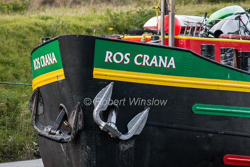 Ros Crana Barge, Laggan Locks, Caledonian Canal; Great Glen Way; Scottish Highlands, Scotland; United Kingdom, Europe