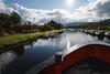 Bicycler, Caledonian Canal; Great Glen, Scotland, Scottish Highlands, United Kingdom, Europe