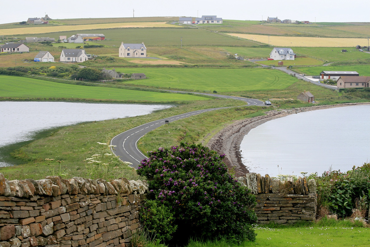 "the Orkney Islands are very beautiful.  very unique houses and scenery.  beautiful stone ""fences"""