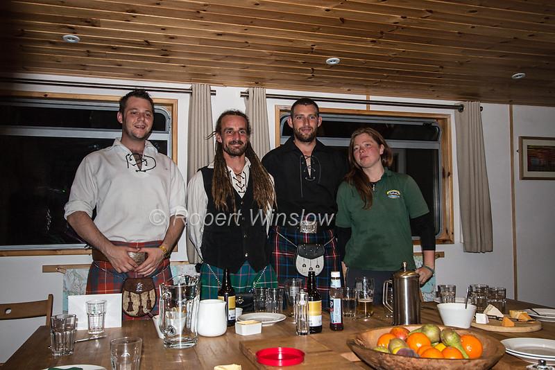 Crew, Ros Crana Barge, Caledonian Canal; Great Glen Way; Scottish Highlands, Scotland; United Kingdom, Europe
