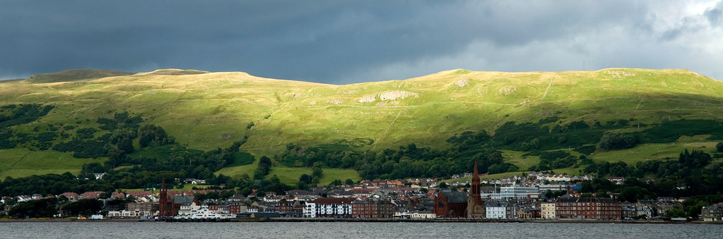 Sunbreak over Largs