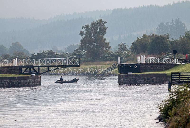 Moy Swing Bridge, Hand Operated, Caledonian Canal; Great Glen Way; Scottish Highlands, Scotland; United Kingdom, Europe