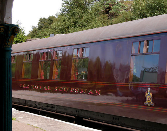The Royal Scotsman train.  We spent a wonderful 10 days travelling through Scotland on this train.