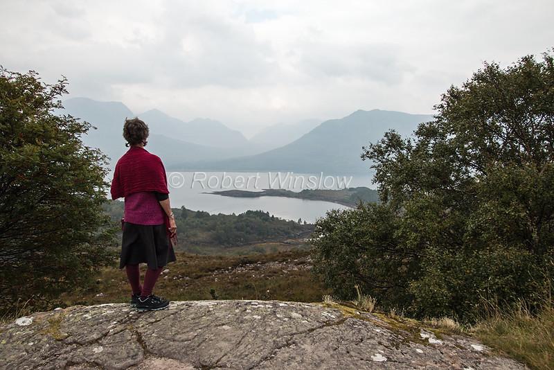 MR, Marilyn, Loch Torridon, sea loch on the west coast of Scotland in the Northwest Highlands, Scottish Highlands, Scotland; United Kingdom, Europe