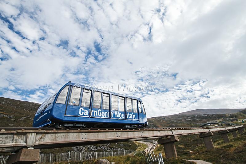 Funicular Railway, CairnGorm Mountain, Cairngorms National Park, Scotland, United Kingdom, Europe