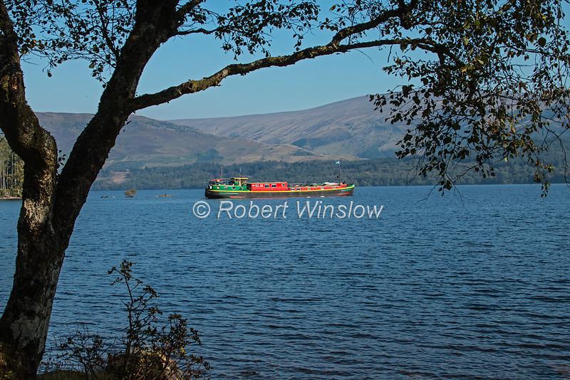 Ros Crana Barge, Loch Lochy, Caledonian Canal; Great Glen Way; Scottish Highlands, Scotland; United Kingdom, Europe