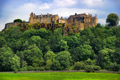 The beautiful Sterling Castle perches atop a hillock overlooking all it's grounds