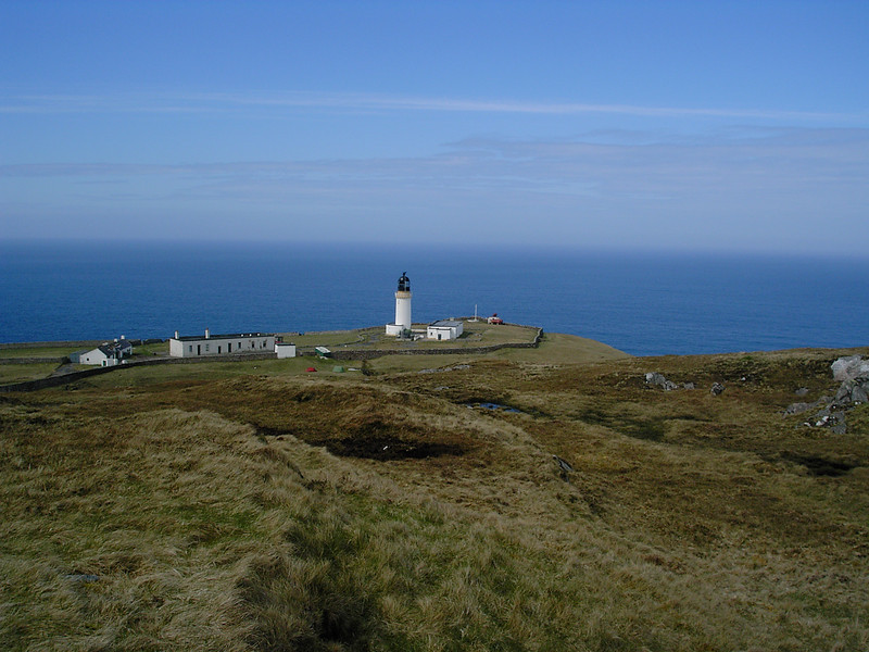 Cape Wrath Lighthouse from the keepers cottages