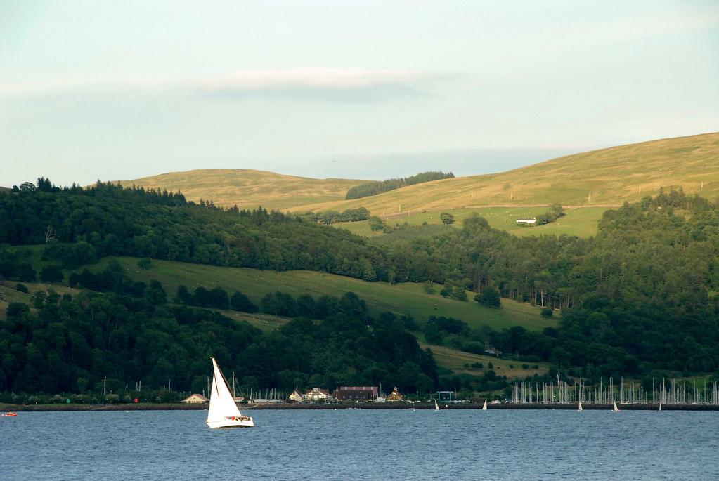 Sailboat near Largs, Scotland
