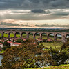 Berwick-upon-Tweed is town in the county of Northumberland and is the northernmost town in England, on the east coast at the mouth of the River Tweed. The Royal Border Bridge crosses between Berwick-upon-Tweed and Tweedmouth in Northumberland, England and therefore does not actually span the border between England and Scotland as it's name implies.
