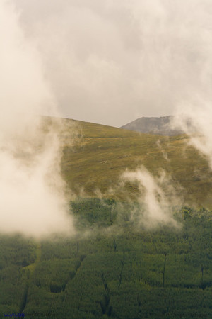Munros and Mist. Spean Bridge. Scotland.