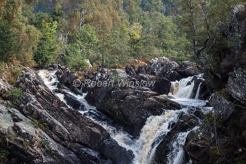 Rogie Falls, Black Water River, Ross-shire, Waterfall, Scottish Highlands, Scotland, United Kingdom, Europe