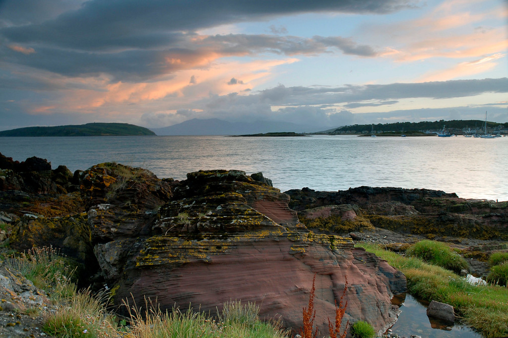 Dusk over Firth of Clyde, from Millport, Scotland