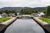 Fort Augustus, Locks, Loch Ness, Scottish Highlands, Great Glen Way, Caledonian Canal, Scotland, United Kingdom, Europe
