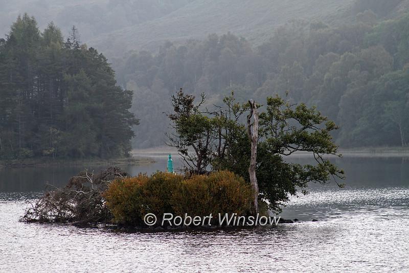 Loch Oich, Misty Morning, Caledonian Canal; Great Glen Way; Scottish Highlands, Scotland; United Kingdom, Europe