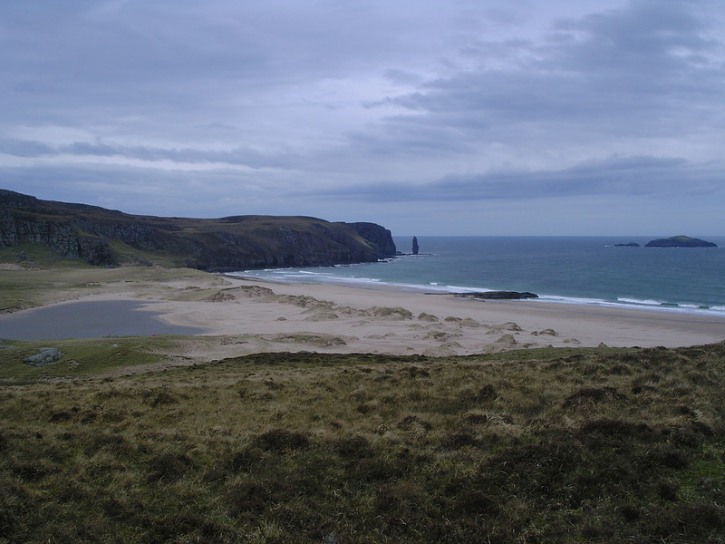 Sandwood Bay from the north