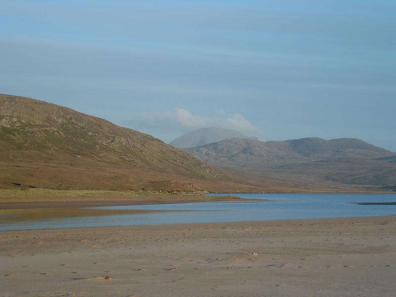 Sandwood Loch looking inland