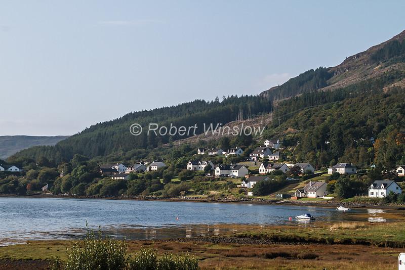 Town of Portree, Loch Portree, Isle of Skye, Inner Hebrides, Scotland, United Kingdom, Europe
