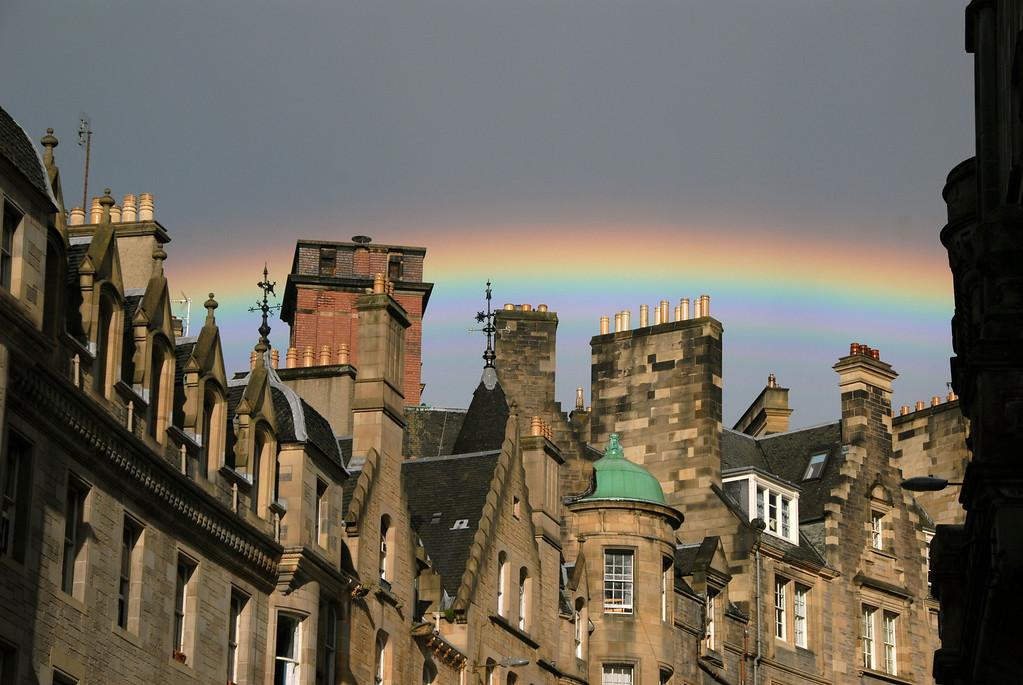 Rainbow over Edinburgh, Scotland