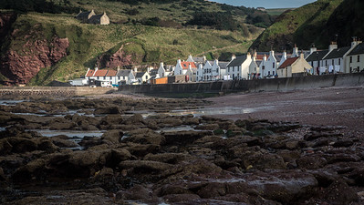"The seaside village of Pennan, Scotland - featured in the movie ""Local Hero"""