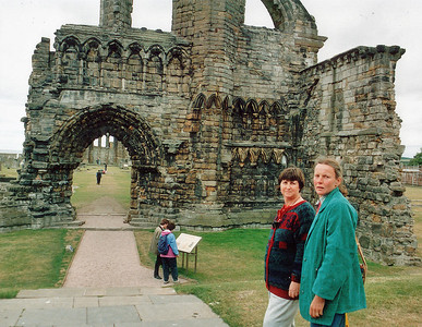 Gill and Kathleen Sayer, St Andrews cathedral St Andrews East Newkt of Fyfe Scotland - Jun 1996