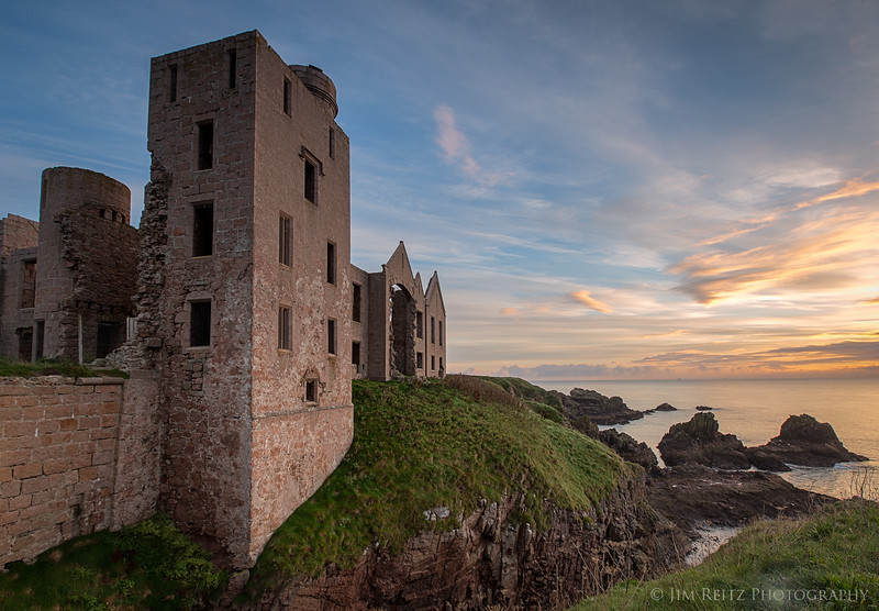 Slains Castle in Cruden Bay, Scotland.